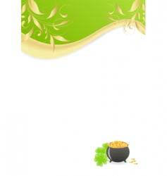 St Patrick's letter vector image vector image