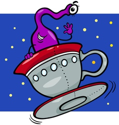 alien or martian cartoon vector image vector image