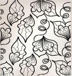 floral embroidery vector image vector image