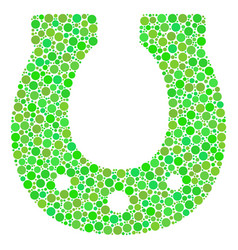 horseshoe collage of dots vector image