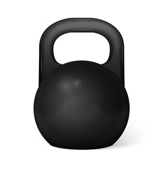 Metal dumbbell - isolated on white vector image vector image