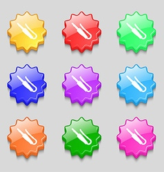 plug mini jack icon sign symbol on nine wavy vector image