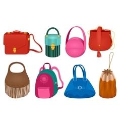 Set of fashion handbag vector image vector image