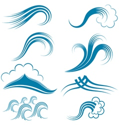 Waves Set vector image