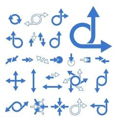 arrow signs vector image