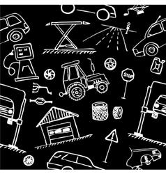 Automotive themes repair vehicle seamless vector