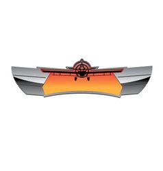 Aviation badge vector