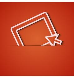 background Orange icon applique Eps10 vector image vector image