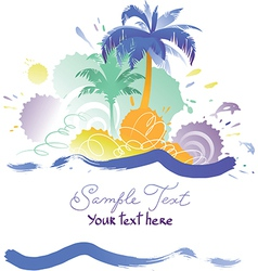 Background with Tropical Beach vector image vector image