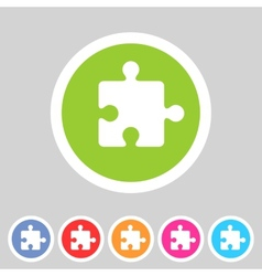 Puzzle flat icon vector image vector image