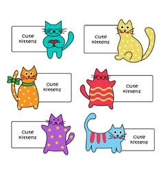 signs with Cartoon kittens vector image