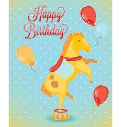 Birthday card horse vector image vector image