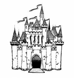 cartoon castle vector image vector image