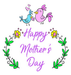 happy mother day cartoon style vector image vector image
