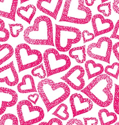 Hearts seamless pattern Love theme seamless vector image vector image