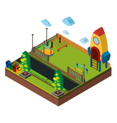 isometric playground scene vector image