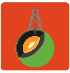 Oil mining vector image