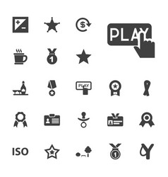 22 badge icons vector
