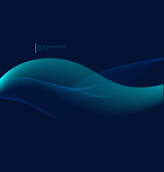 abstract glow blue wave or wavy lines flowing vector image