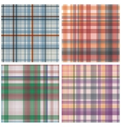 Abstract Tartan Checkered Seamless Pattern Set vector image