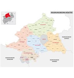 Administrative map munster region vector