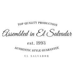 Assembled in El Salvador rubber stamp vector image