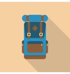 Backpack front view vector