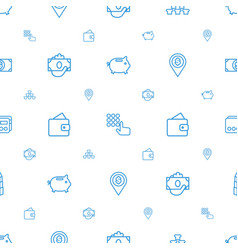 bank icons pattern seamless white background vector image