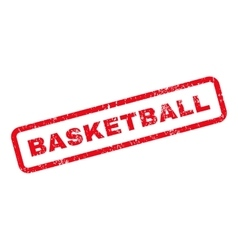 Basketball Text Rubber Stamp vector