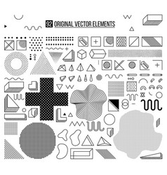 Black and white elements vector