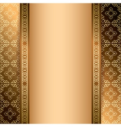 bright brown ornamental background with gradient vector image