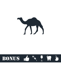 Camel icon flat vector