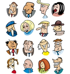 cartoon people characters vector image