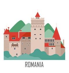 castle dracula romania landmarks vector image