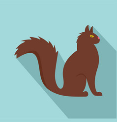 cat icon flat style vector image