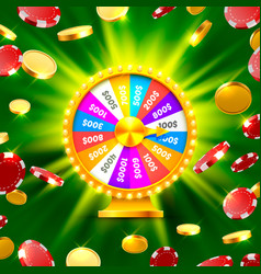 Colorful fortune wheel wins the jackpot vector