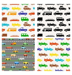 Colorful little cars vector