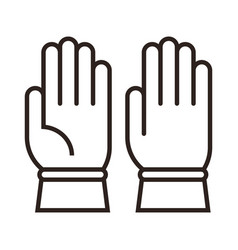 construction glove sign vector image