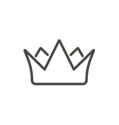 crown icon line king symbol vector image