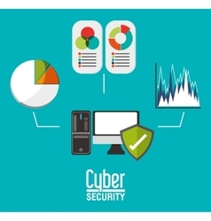 Cyber security and computer design vector