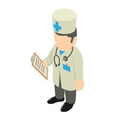 doctor icon isometric style vector image