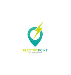 electric point logo vector image