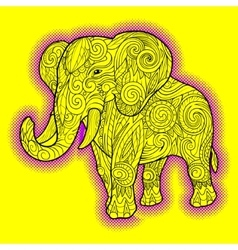 Elephant ornament ethnic vector