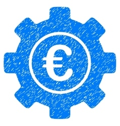 Euro Development Gear Grainy Texture Icon vector