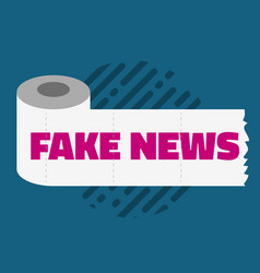 Fake news conceptual design concept with a toilet vector