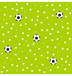 Football Ball Star Polka Dot Green Background vector