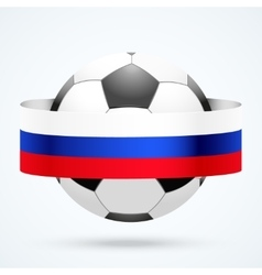 Football ball with Russian flag vector