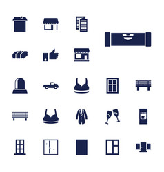 Front icons vector