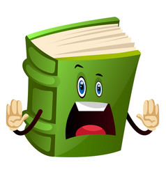 Green book is shocked on white background vector