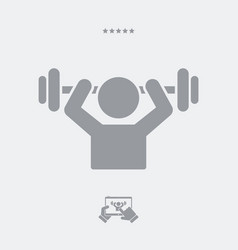 gym activity - web icon vector image